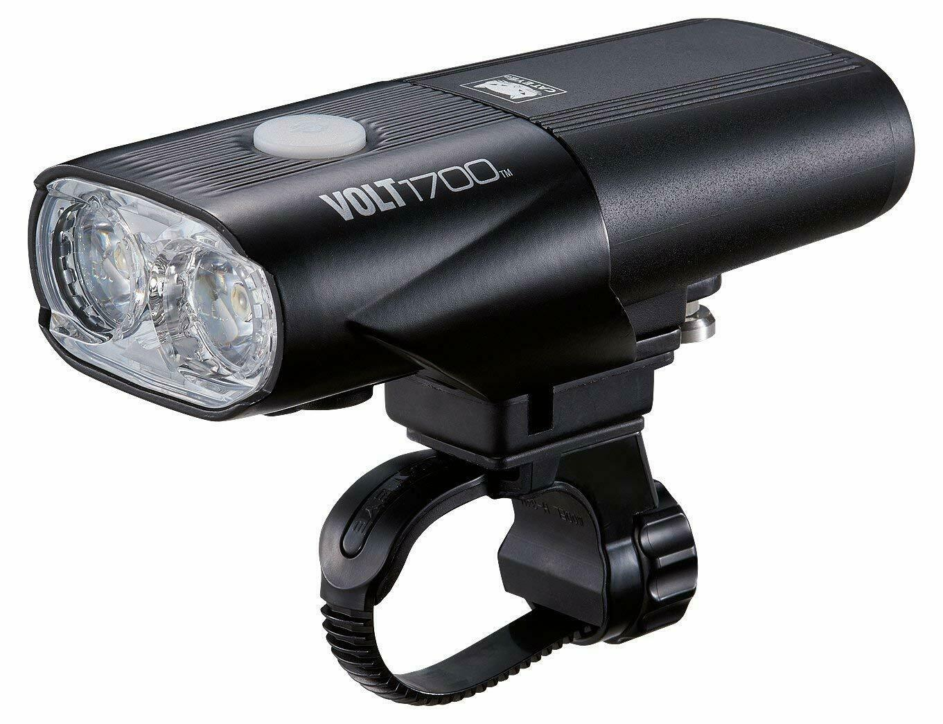 noir Cateye Volt 1700 Rc Rech 1700 lm Road Bike Light-Front défaut noir