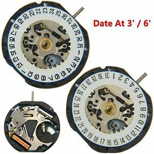 Japanese-VX12E-Quartz-Movement-Date-At-3-039-6-039-3-Pin-Watch-Accessories-Battery