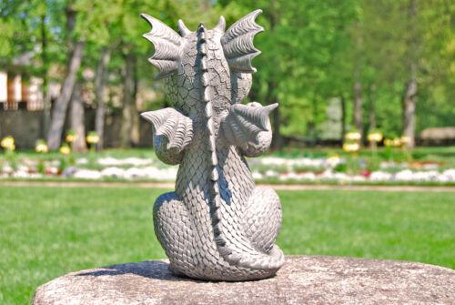 Gartenfigur Gartendrache Modell Juhuuu Fantasy Figur Deko Drache Gartendeko