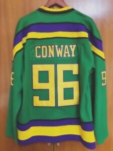 Image is loading Mighty-Ducks-Movie-Jersey-96-Charlie-Conway-Hockey- 4ce07e039