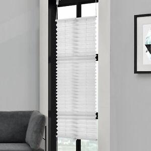 Plisado 75x150cm blanco-sin taladrar-diversidad persiana persiana Klemm soporte Easy Fix
