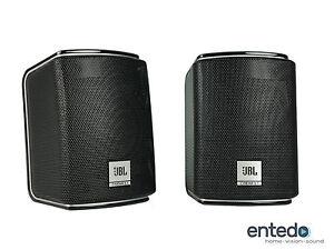2-Sat-Lautsprecher-vom-JBL-Cinema-510-Speaker-Boxen-610-Heimkino-Schwarz