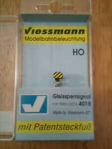 Viessmann-4018-Shunting-Light-Blocking-LED-Signal-HO-Scale-Excellent-Condition
