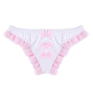 Sexy-Men-039-s-Briefs-Thong-Lace-Floral-Ruffles-Bulge-Pouch-Underwear-Briefs-Bikinis