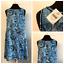 NWT-J-Jill-Love-Linen-Blue-White-Paisley-Shift-Dress-Sleeveless-Womens-Small thumbnail 1