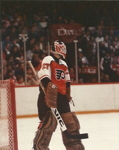 Ron Hextall Philadelphia Flyers Nhl Hockey Goalie Goal 8x10 Color