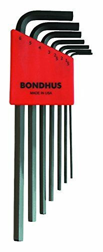 HLX7M Bondhus Long 7 Piece Metric Hex Key Allen Set 12192