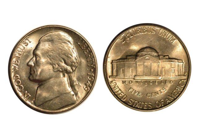 1949-D  Jefferson Nickel  Uncirculated