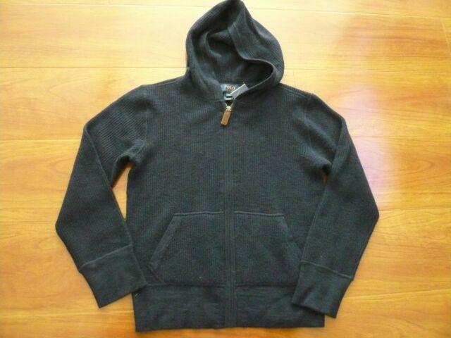 Boys 4//4T Varsity Big P Polo Ralph Lauren Sweater NWT Snap Front