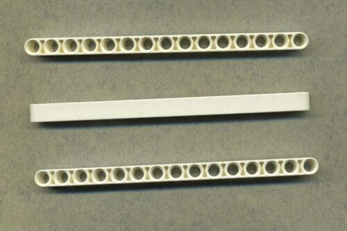 Beam 3 pezzi 15 buchi liftarm LEGO TECHNIC 32278 BIANCO
