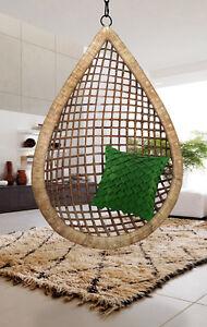 Tear Drop Hanging Cane Wicker Swing Egg Chair | eBay
