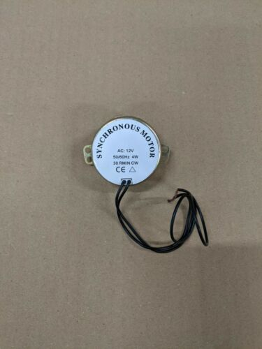 Motor síncrono 21V 50//60Hz 4W 30 RMIN CW rotar Girar Eléctrico Barber Pole
