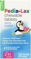 6 Pack - Fleet Pedia-lax Chewable Tablets Watermelon Flavor 30 Tablets Each on sale