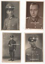 4 Original Portrait Fotos Polizei mit Schirmmütze / Orden EK1       2. WK