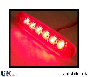 30 Stück 24v 6 SMD Led Vorne Weiß Klar Seitenmarkierung Licht Lampe Lkw Anhänger