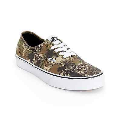 VANS x STAR WARS Authentic Mens Shoes (NEW) Boba Fett CAMO Sizes 7-12 FREE SHIP