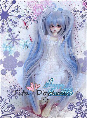 1 3 8-9 Bjd Wig Dal Pullip Blythe SD LUTS DZ DOC DOD Dollfie Doll blue mix