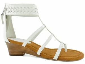 4e821b6e0c5 LAUREN Ralph Lauren Women s Meira Wedge Sandals White Size 5.5 B ...