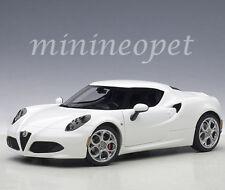 AUTOart 70185 ALFA ROMEO 4C 1/18 MODEL CAR GLOSSY WHITE