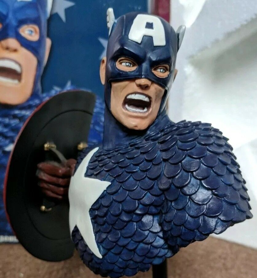 RARE LIMITED EDITION  96 ARTIST PROOF Marvel Captain America  Avengers bust
