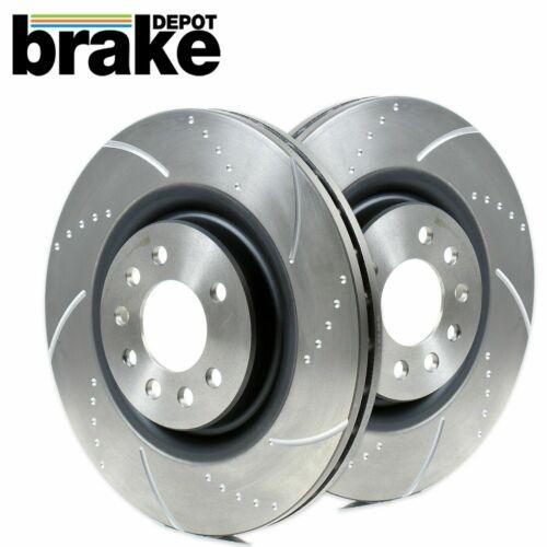 Rear Brake Discs to fit Suzuki Swift Sport 1.6 Z32 Dimpled Grooved