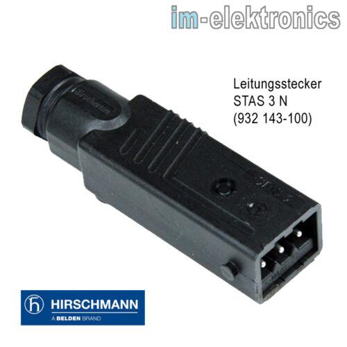 Hirschmann STAS STAK 3 Stecker Kupplung Rolladen Motor Jalousie Antrieb Markise