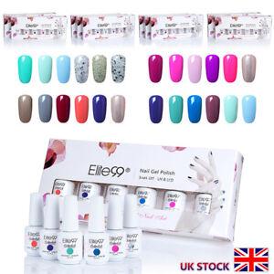 6-Colours-Elite99-Gel-Nail-Polish-UV-LED-Manicure-Gift-Set-Lacquer-8ml-Varnish