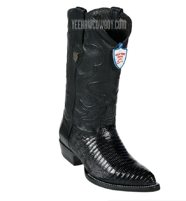 Men's Wild West Teju Lizard J Toe stivali Handcrafted Style  2990705 Dimensione 11.5 EE