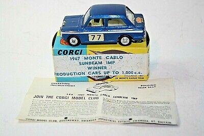 CORGI Hillman Imp  340  MONTE CARLO RALLY  1967  Full set of stickers,