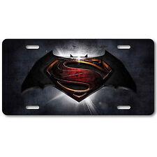 Batman vs Superman License Plate Tag Aluminum Baked on Finish Cool New