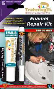 ENAMEL REPAIR KIT Bath Sink Shower Tray CHIP WHITE Ceramic Acrylic ...