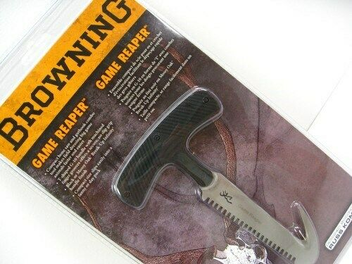 """Browning Game Reaper 322926 6/"""" overall 3 3//4/"""" stainless bone saw and guthook co"""