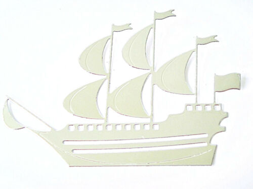 8 Galleon Die Cuts J.s Ship//Boat//Yacht//Sea//Pirate Any Colour//Card!