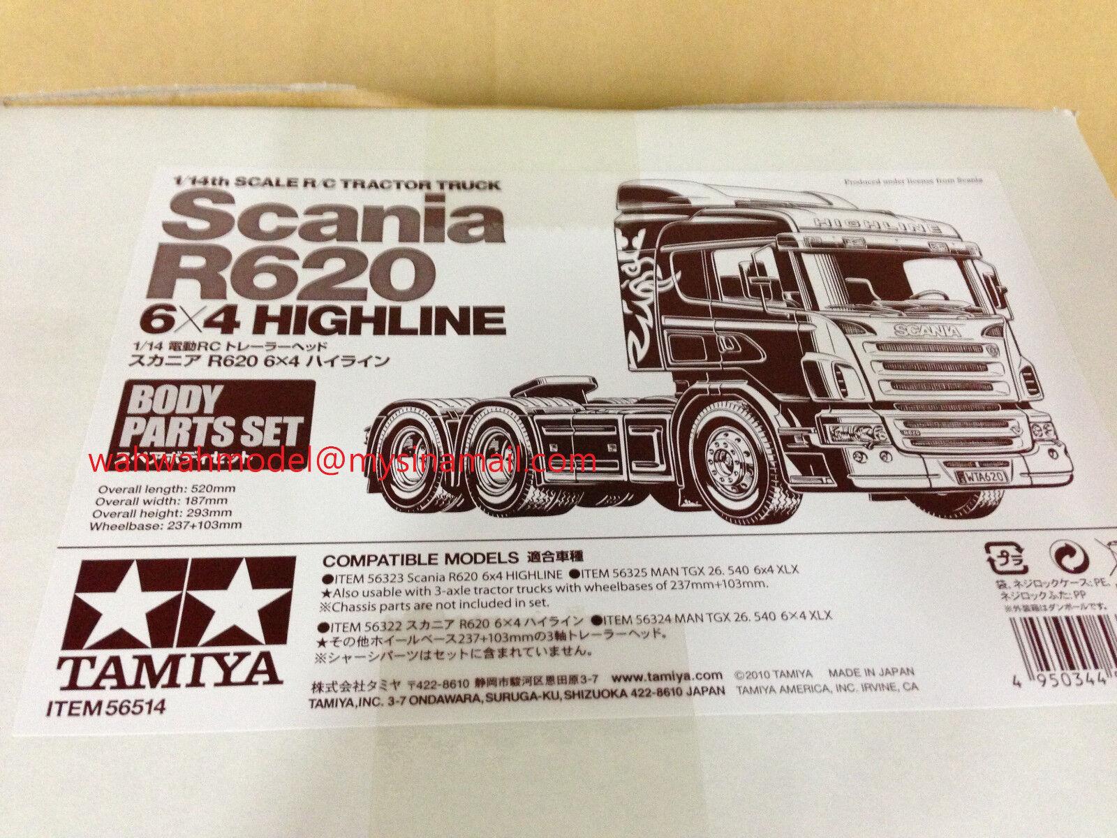 Tamiya 56514 1 14 Radio Control Scania R620 6x4 Highline conjuntos de cuerpo