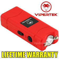 VIPERTEK RED VTS-881 110 MV Mini Rechargeable LED Police Stun Gun + Taser Case