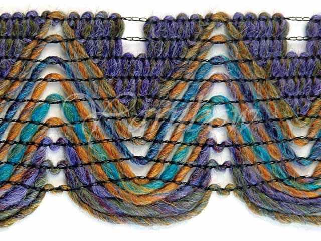 woll acrilic ruffle yarn Lavender :Ric Rac Long Print #1186: Berroco