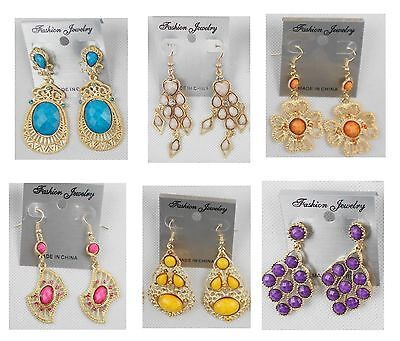 TU-03 Wholesale  lots 4 pairs Mixed Style Drop/Dangle Fashion  Earrings