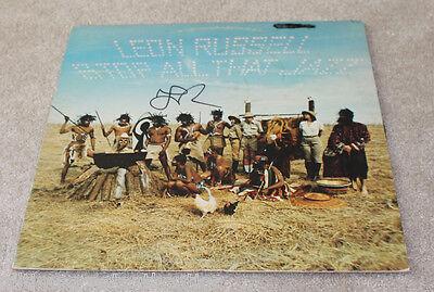 Leon Russell Hand Signed Authentic 'stop All That Jazz' Record Album Lp W/coa Rock & Pop Entertainment Memorabilia