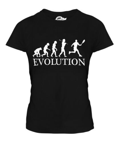 TENNIS EVOLUTION OF MAN LADIES T-SHIRT TEE TOP GIFT RACQUET CLOTHING