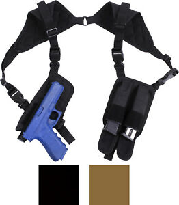 Concealed-Carry-Ambidextrous-Shoulder-Holster-with-Double-Magazine-Pouches-CCW