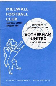 MILLWALL V ROTHERHAM UNITED DIVISION TWO 171266 - Bromley, United Kingdom - MILLWALL V ROTHERHAM UNITED DIVISION TWO 171266 - Bromley, United Kingdom