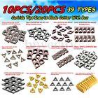 10/20Pcs 39 Types CNC Carbide Tips Inserts Blade Cutter Lathe Turning Tool + Box