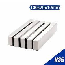 100x20x10mm N35 Magnet Neodymium Bar Long Cuboid Super Strong Rare Earth Magnets