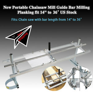 Fit-14-034-36-034-Chainsaw-Guide-bar-Chain-Saw-Mill-Log-Planking-Lumber-Aluminum