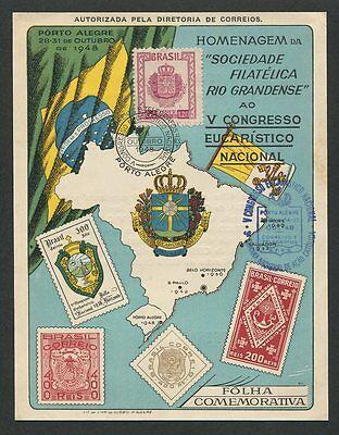 Brasilien Gewissenhaft Brasil Mk 1948 Congresso Eucaristico Maximumkarte Carte Maximum Card Mc Cm Z1277 Briefmarken