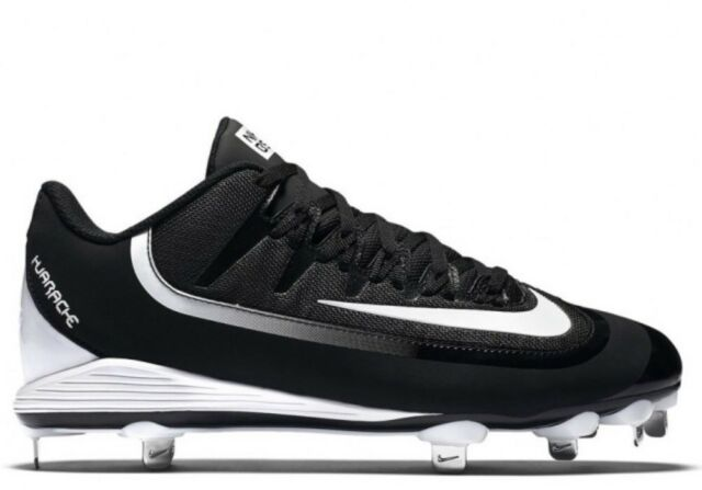 100 Nike Huarache 2K Filth Pro Low Metal Baseball Cleats Shoes Black White  11.5 28a18ad25