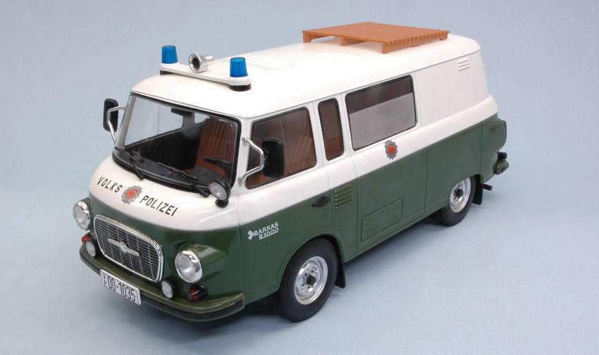 Barkas B 1000 autobus tratto medio popolo polizia 1:18 MODEL modelcargroup