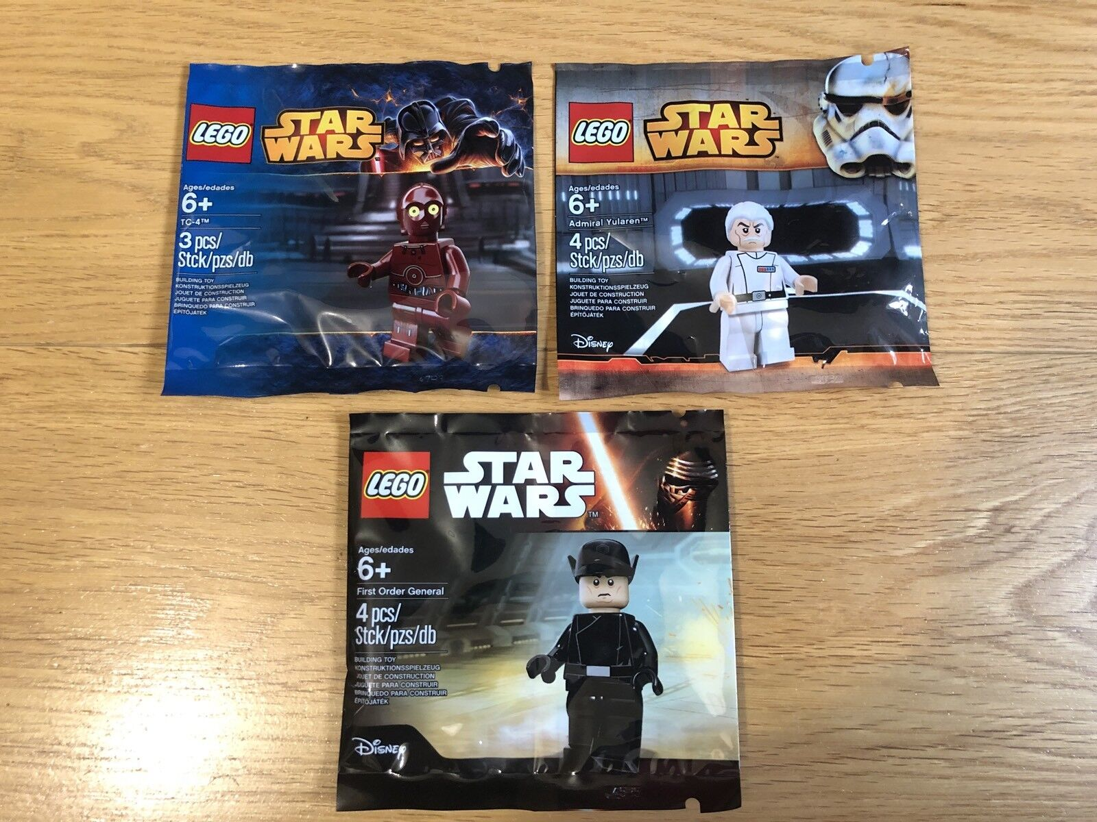 SEALED Lego 3x Star Wars Minifigure Polybags Collection EXCLUSIVE