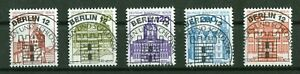 Berlin-673-677-Vollstempel-Berlin-12-ESST-Burgen-und-Schloesser-Gummi-used-1982