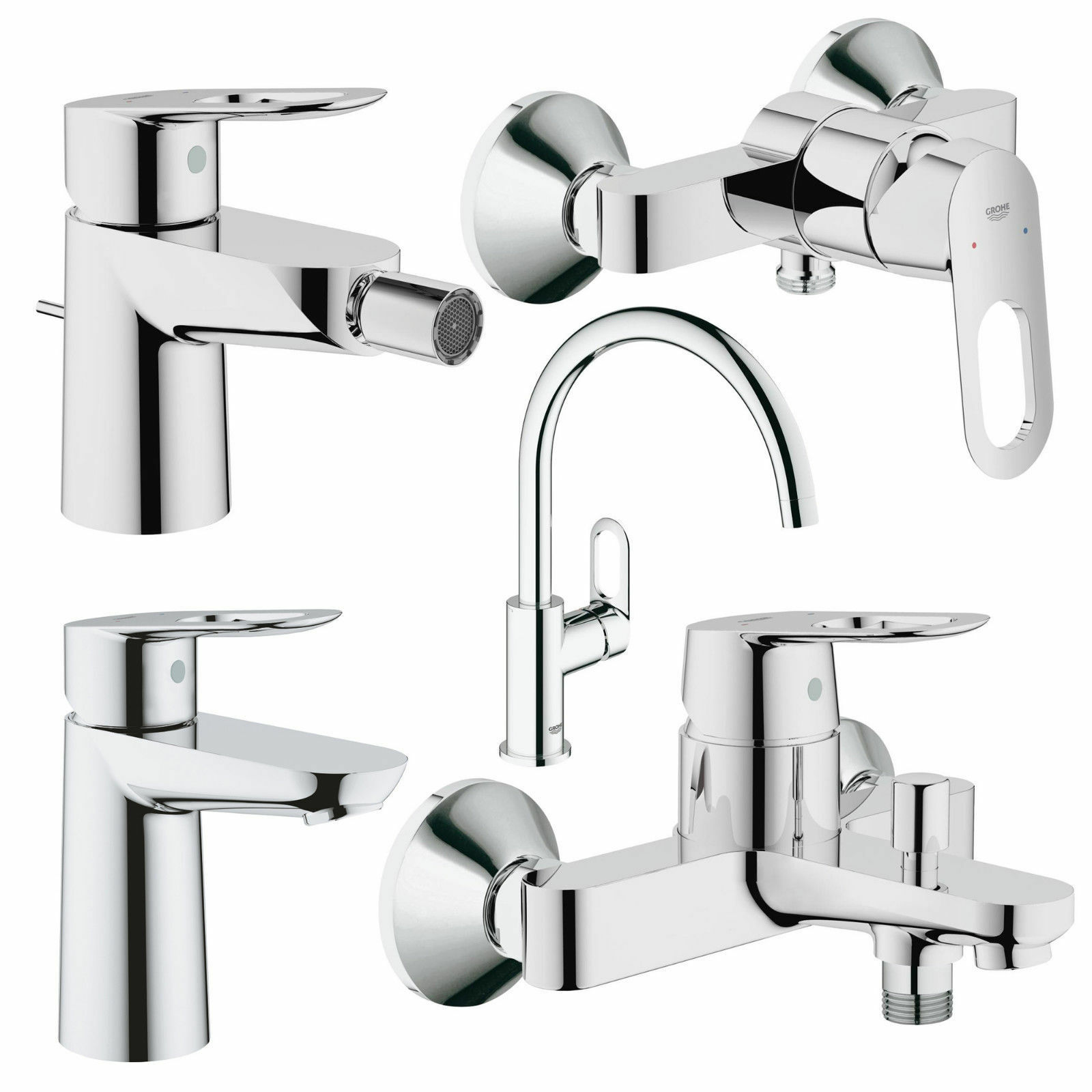 Grohe BauLoop 23341000 Mixer Tap for Bath//Shower